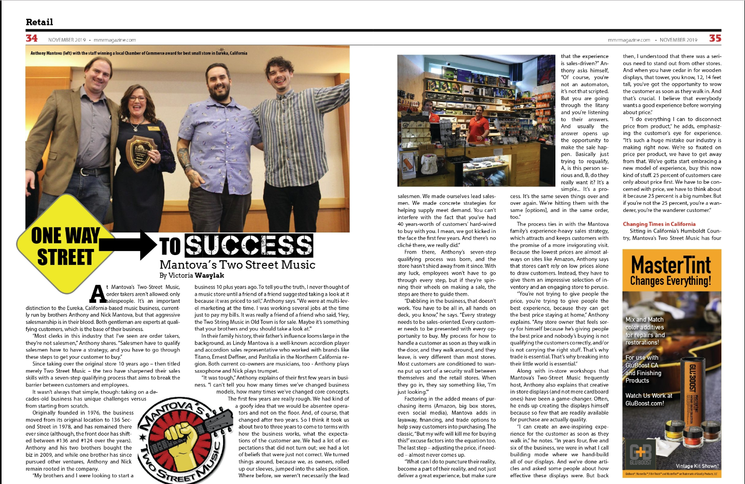 Special thanks to MMR Magazine for a retailer of MI business in Eureka
