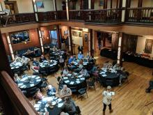 Balcony Level View of Successful Auction Event for Anthony Mantova