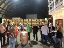 Michelle Costantine had a big crowd of people at Old Growth Cellars